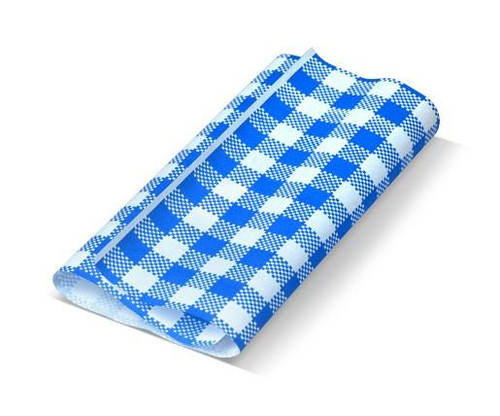 Greaseproof Paper Gingham BLUE & White - 310x190mm
