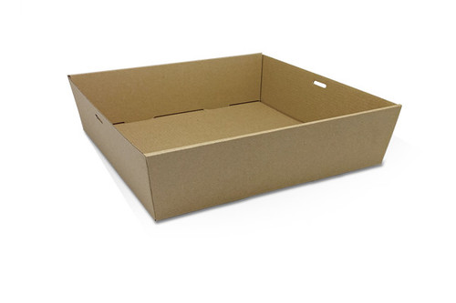 Catering Tray - SQUARE - Brown (LARGE) - 80mm High - [SCTL] - 280x280x80mm