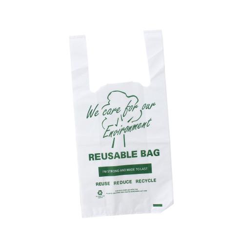 Carry Bag - REUSABLE - SMALL (Green Print) - 230x130+420mm
