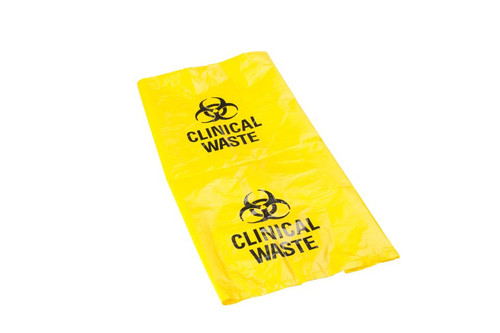 Rubbish Bin Liner - Infectious Waste Yellow 30um Printed 1000x700mm