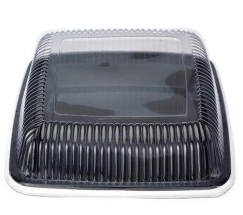 """Platter (Plastic) - SQUARE Black Large 16"""" - 405x405x35mm"""