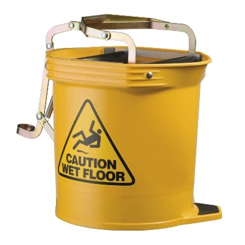 Mop Wringer Bucket Wide Mouth -15L with Castors OATES -YELLOW