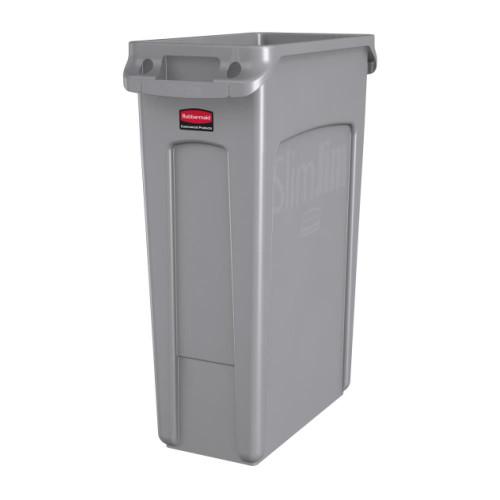 Rubbish Bin - 87.1 Litre Slim Jim Vente Channel Grey