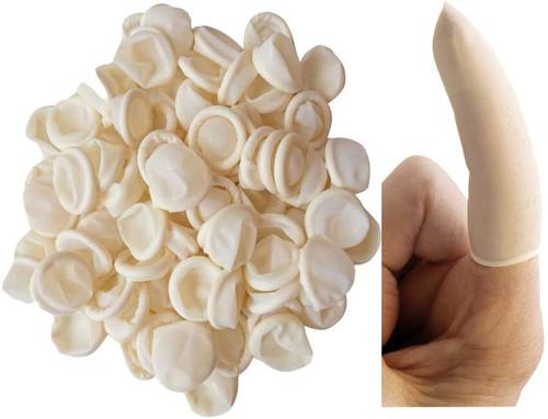 Finger Covers Latex Powder Free Natural - MEDIUM