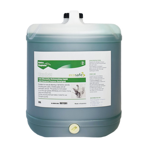 SUDSY - Economy Dishwashing Detergent 20L- Green Apple - ideal for Dispensing Units