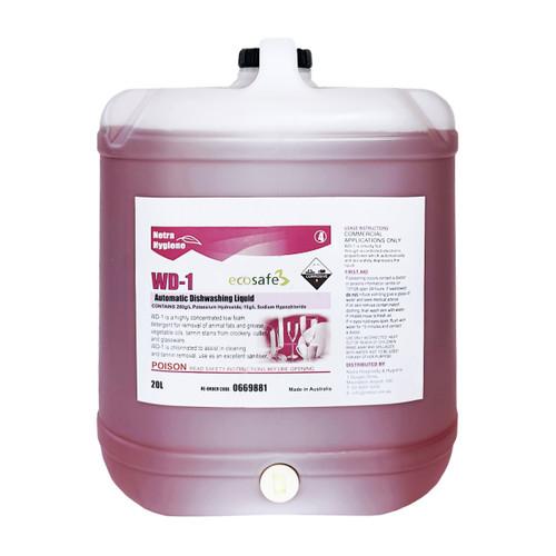 WD1 20L - Auto Dish Liquid WAREWASH - Stage 1 PINK