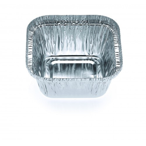 Foil Container - CONFOIL [7211] - Small Square Tray - 96 x 96 x 43mm - Capacity 336ml