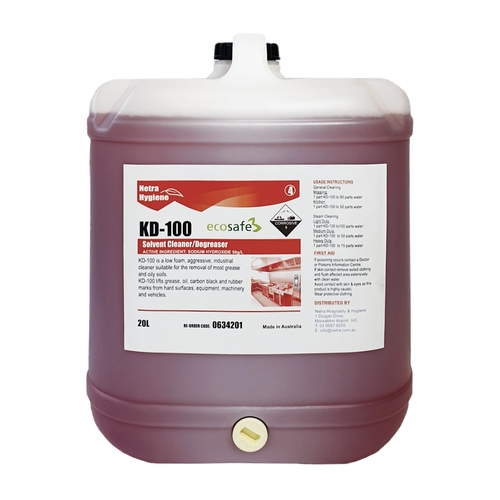 KD-100 - Heavy Duty Cleaner Kitchen Degreaser 20L