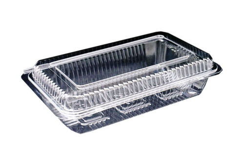 Sushi Pack (PS) - 6 Roll LARGE Clear with Hinged Lid [OPS6] - 215x135x45mm