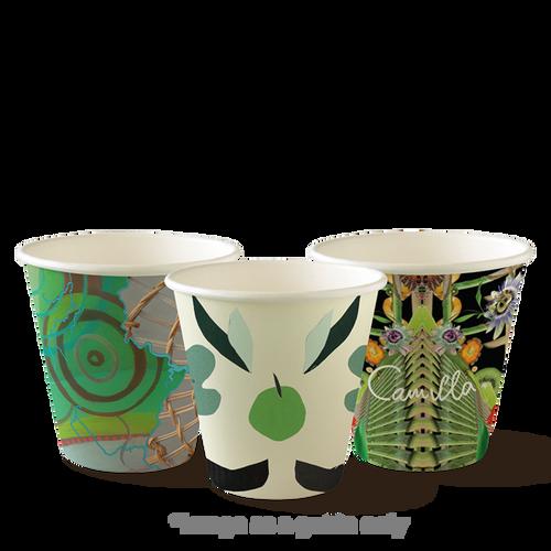 Coffee Cup (PLA) - BIOPAK - SINGLE Wall - 8oz ART Print [BC-8(90mm)-ART SERIES]