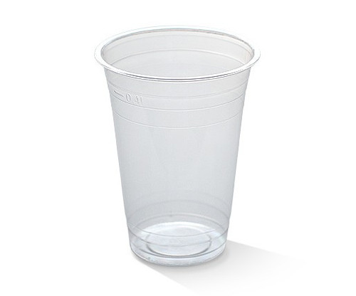 GREENMARK Cold Cup (PLA) - 400ml Clear - 1000/CTN