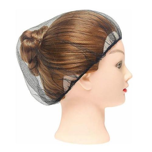 Hair Net - Disposable Fine Mesh Netting 50's - Black with Elastic [DHFNB]