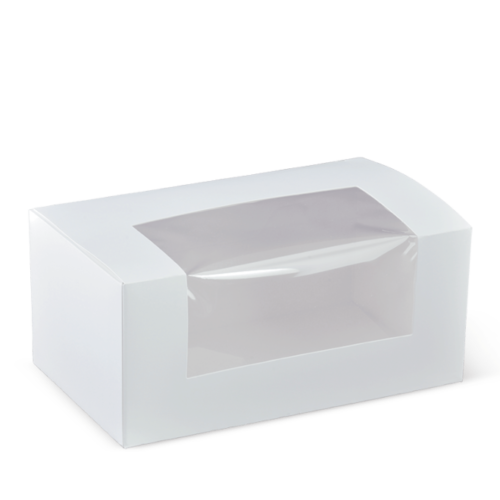 Cake Box with WINDOW - 2 Cup Cake Box - 180x100x75mm