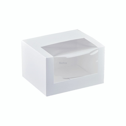 "Cake Box with Window - 5"" Long Patisserie Box - K506S0001"