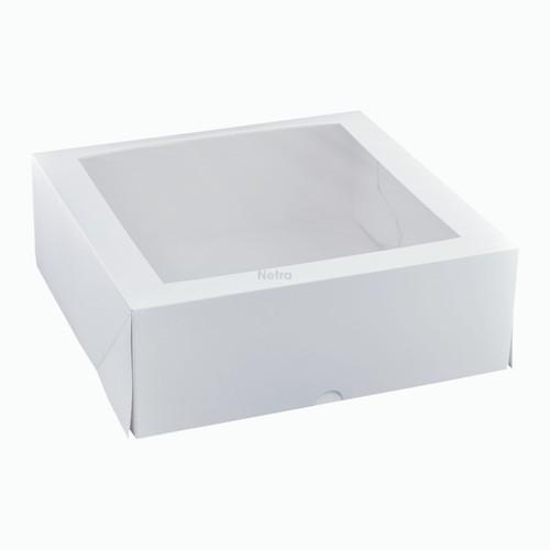 "Cake Box with Window - 11"" Square Patisserie Box - Q006S0001"