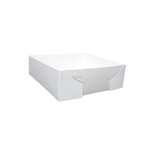 Cake Tray - No 19 White Standard - Double Sided