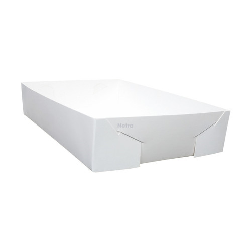 Cake Tray - No 24 White Standard - Double Sided