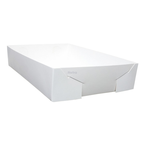 Cake Tray - No 25 White Standard - Double Sided