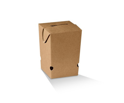 Chip Box (Paper) - Rectangular Brown - SMALL - [CCS] - 65x65x100mm