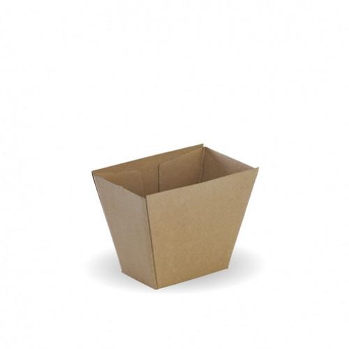 Chip Box (Corrugated) - Square BROWN KRAFT
