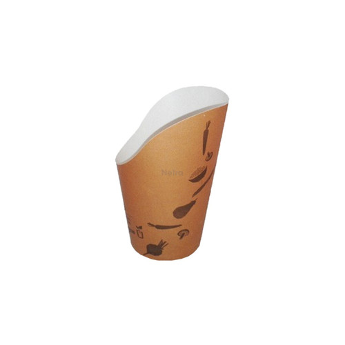 Chip Scoop (Paper) - Round Base - 12oz Brown