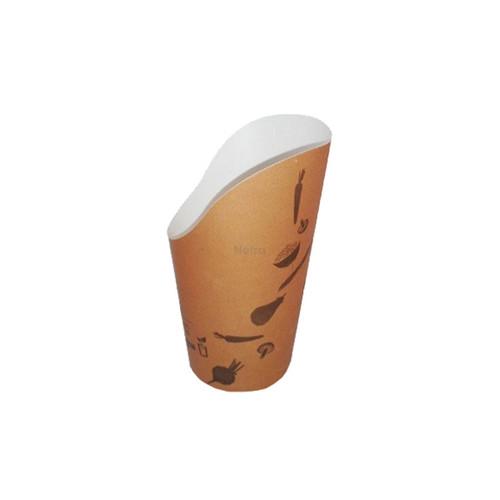 Chip Scoop (Paper) - Round Base - 16oz Brown