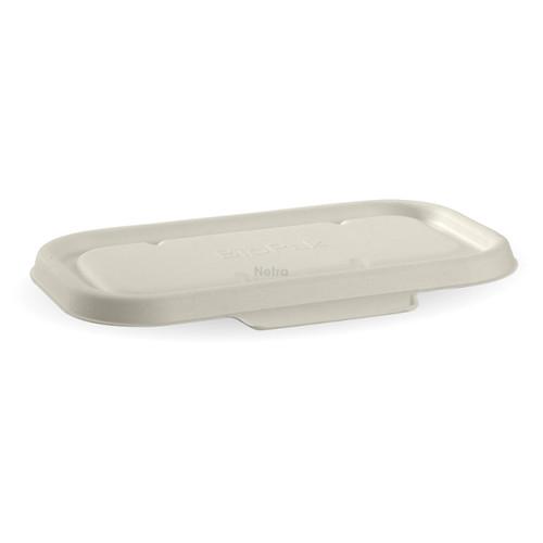 LID (BIOCANE) - BIOPAK WHITE - [B-LBL-W] / suits 750 -1000ml BIOCANE Rectangular Takeaway Base