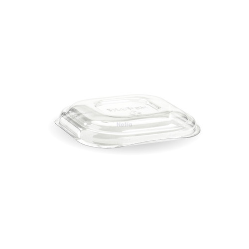 LID DOME (PET) - BIOPAK - Square CLEAR - [B-SLBL-RPET(D)] / to suit Square Takeaway Bases 280ml - 630ml