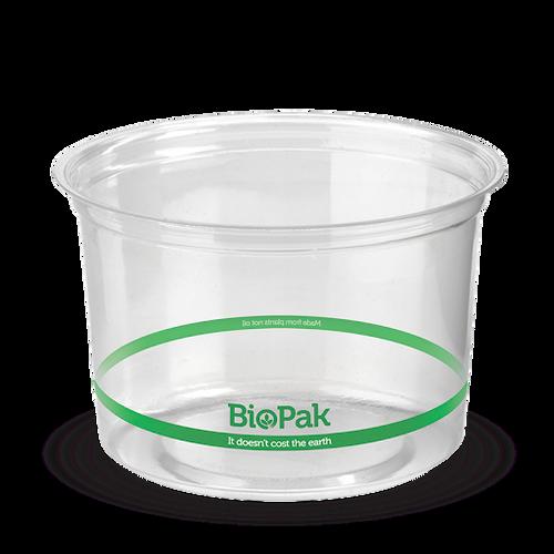 BIOPAK - BioBowl Plastic (PLA) - 960ml Clear
