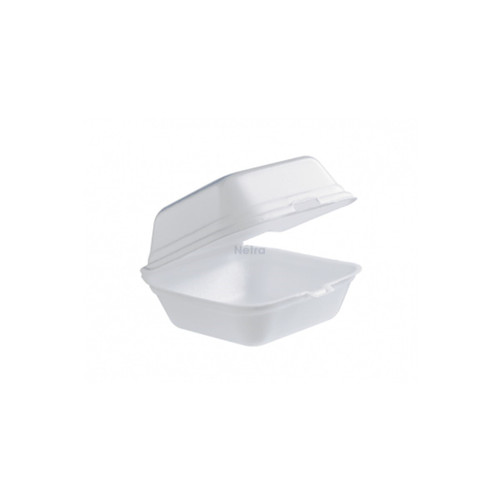 Foam Container / Hinged Lid - Large Burger Clam