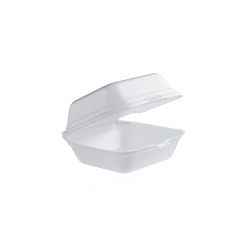 Foam Container / Hinged Lid - Small Burger Clam
