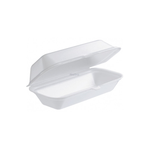 Foam Container / Hinged Lid - Roll Pack