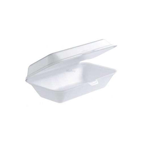 Foam Container / Hinged Lid - Large Snack Pack