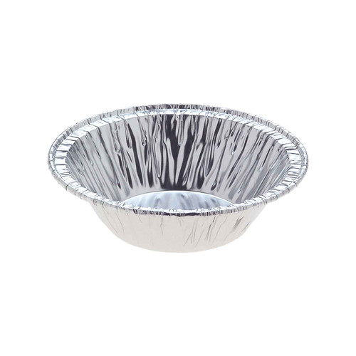 Foil Container [247C] - Round Mince/Jam Tart - (T)62mm (B)38mm (H)19mm - Capacity 40ml