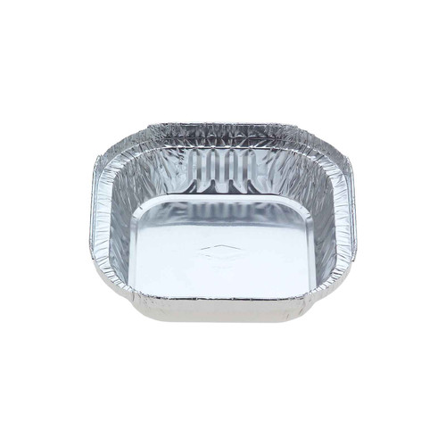 Foil Container [7113] - Small Square Sweet Dish / (Equiv.320) - (TI)112x112mm (H)27mm - Capacity 305ml