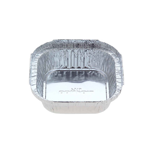 Foil Container [7313] - Small Square Sweet Dish / (Equiv.325) - (TI)112x112mm (H)32mm - Capacity 340ml