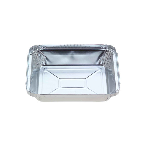 Foil Container [7117] - Small Oblong Tray / (Equiv. 440) - (TI)152x128mm (H)26mm - Capacity 440ml