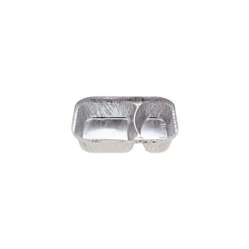 Foil Container - 2 Cavity Meal Tray [7720]