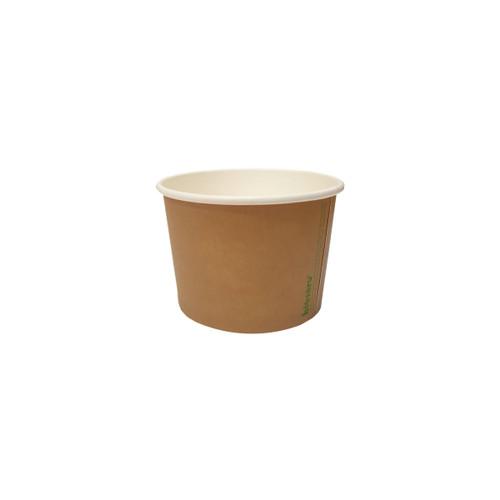 SOUP BOWL/TUB - BIOSERV - Brown Kraft PLA - 8oz - Hot/Cold Use 90x75x62mm