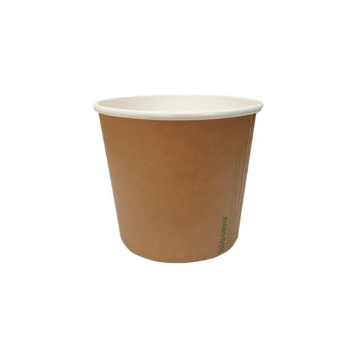 SOUP BOWL/TUB - BIOSERV - Brown Kraft - PLA - 16oz - Hot/Cold Use
