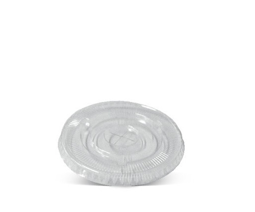 LID FLAT (PET) - GREENMARK - 90mm X Hole Clear - (Cold Use Only) / suits 8oz Paper Tub