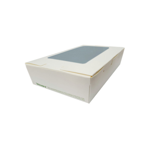 Lunch Box (White Board) with Window - SMALL (700ml) - 150x100x45mm