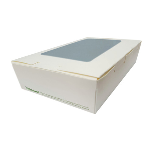 Lunch Box (White Board) with Window - LARGE (1900m) - 195x140x65mm