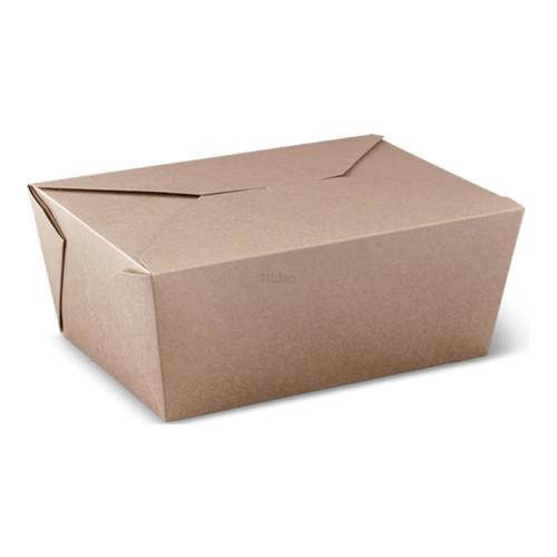 Lunch Box (Brown Kraft) PLA - XLARGE (2400ml) - [LB8]