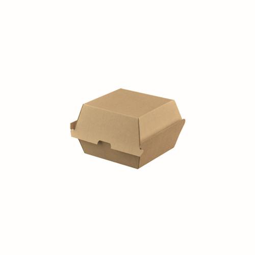 Burger Box (Corrugated) - PLAIN Brown Kraft - 105x102x85