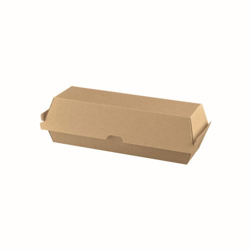 Hot Dog Clam (Corrugated) - Brown Kraft - [PCB4] - 207x70x77mm