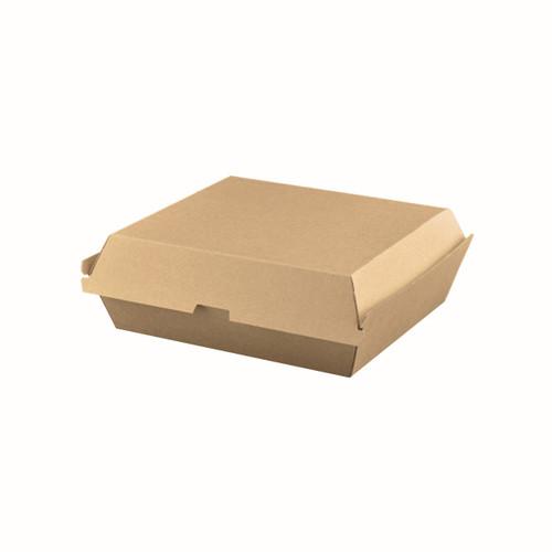 Dinner Box (Corrugated) - Brown Kraft - 178x165x75mm