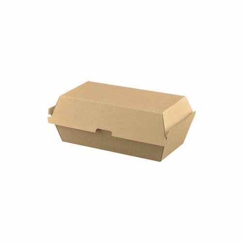 Snack Box Regular - BIOSERV (Corrugated) - Brown Kraft - 170x91x85mm
