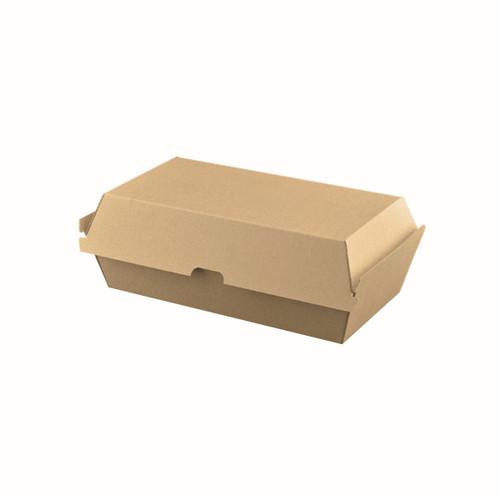 Snack Box Large - BIOSERV (Corrugated) - Brown Kraft - 205x106x76mm