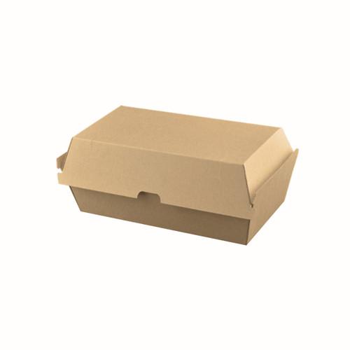 Snack Box Large HIGH (Corrugated) - Brown Kraft - 205x106x95mm